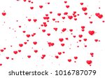 red and pink heart. valentine's ... | Shutterstock . vector #1016787079