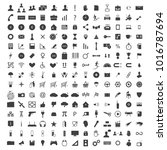 vector set of 150    web icons  ... | Shutterstock .eps vector #1016787694