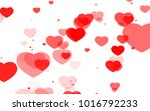 red and pink heart. valentine's ... | Shutterstock . vector #1016792233