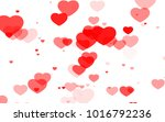 red and pink heart. valentine's ... | Shutterstock . vector #1016792236