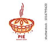 meat pie  roll  quiche vector... | Shutterstock .eps vector #1016795620