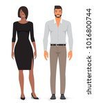 man and woman. vector... | Shutterstock .eps vector #1016800744