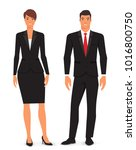 man and woman. vector... | Shutterstock .eps vector #1016800750