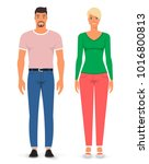 man and woman. vector... | Shutterstock .eps vector #1016800813