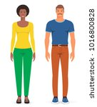 man and woman. vector... | Shutterstock .eps vector #1016800828