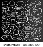 vector set of hand drawn of... | Shutterstock .eps vector #1016803420