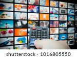 multimedia video wall... | Shutterstock . vector #1016805550