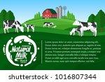 vector milk illustration with...   Shutterstock .eps vector #1016807344