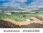 burbank seen from mount lee.... | Shutterstock . vector #1016810380
