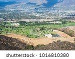 burbank seen from mount lee.... | Shutterstock . vector #1016810380