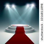 illuminated podium at the... | Shutterstock .eps vector #1016811898