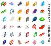 information transfer icons set. ... | Shutterstock .eps vector #1016815636