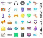 soft application icons set.... | Shutterstock .eps vector #1016815690