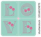 love typography. love initial... | Shutterstock .eps vector #1016815870