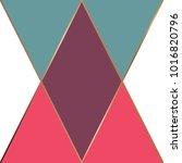 golden geometric lines  modern... | Shutterstock .eps vector #1016820796
