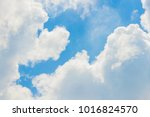 blue sky with clouds closeup | Shutterstock . vector #1016824570