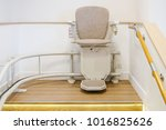 automatic stair lift on... | Shutterstock . vector #1016825626