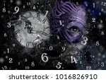 magic world of magic numbers... | Shutterstock . vector #1016826910