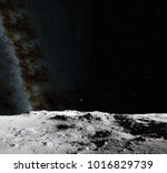moon surface. realistic 3d... | Shutterstock . vector #1016829739