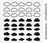 clouds silhouettes. vector set...   Shutterstock .eps vector #1016830150