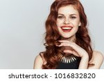 young beautiful woman in a... | Shutterstock . vector #1016832820