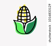 corn flat design. corn isolated.... | Shutterstock .eps vector #1016833129