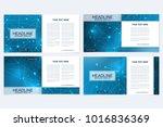 scientific templates square... | Shutterstock .eps vector #1016836369