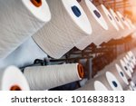 rolls of industrial cotton... | Shutterstock . vector #1016838313