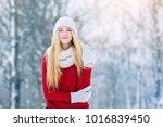 winter young teen girl portrait.... | Shutterstock . vector #1016839450