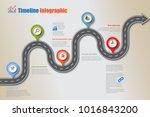 business road map timeline... | Shutterstock .eps vector #1016843200