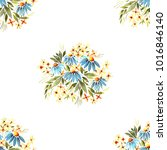 watercolor seamless pattern ... | Shutterstock . vector #1016846140