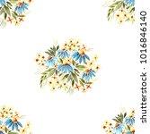 watercolor seamless pattern ... | Shutterstock . vector #1016846140