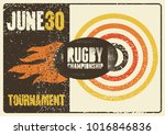 rugby typographical vintage... | Shutterstock .eps vector #1016846836