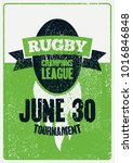rugby typographical vintage... | Shutterstock .eps vector #1016846848