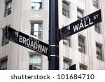 Broadway And Wall Street Signs...