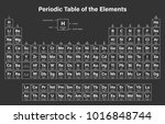 periodic table of the elements... | Shutterstock .eps vector #1016848744