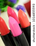 bright  fashion  lipsticks... | Shutterstock . vector #1016855593