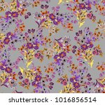 flowers pattern.for textile ... | Shutterstock . vector #1016856514