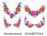 embroidery flower collars v... | Shutterstock .eps vector #1016857414