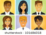 asian,avatars,black,business,businessmen,businesswoman,cartoon,clip art,concepts,coworkers,diversity,ethnic,faces,female,girls