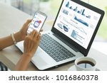 business documents  with smart... | Shutterstock . vector #1016860378