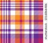 Pink orange plaid madras seamless pattern. Vector illustration.