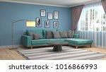 interior living room. 3d... | Shutterstock . vector #1016866993