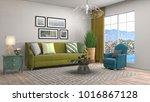 interior living room. 3d... | Shutterstock . vector #1016867128