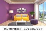 interior living room. 3d... | Shutterstock . vector #1016867134