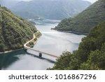 montenegro mountains  lake piva   Shutterstock . vector #1016867296