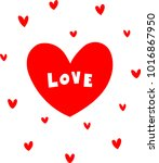 hand drawn letters love clip... | Shutterstock .eps vector #1016867950