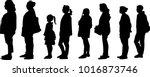 vector silhouette of full... | Shutterstock .eps vector #1016873746