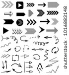 collection of black arrows... | Shutterstock .eps vector #1016883148