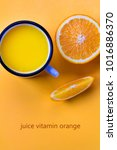 juice vitamin orange fresh... | Shutterstock . vector #1016886370